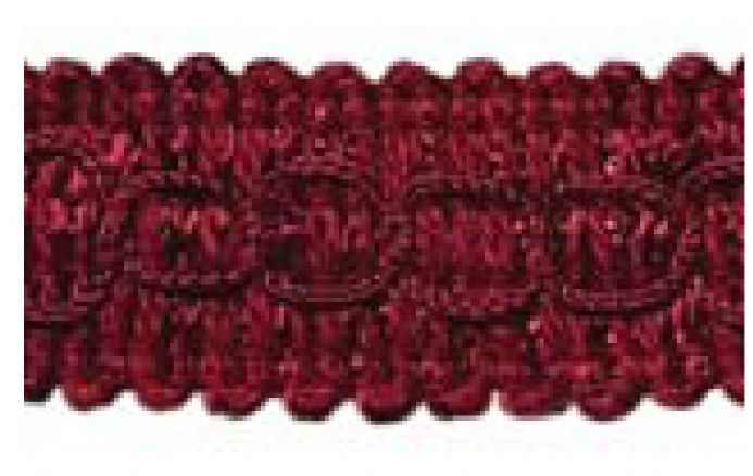 Gimp (Braided trim) 22mm  -  Wine J16 - Value Pack 22 mtrs